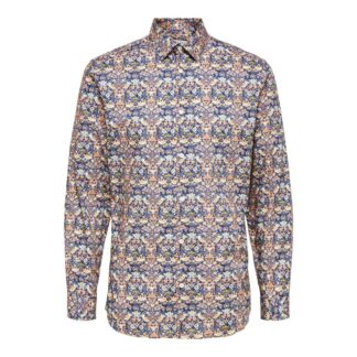 Gonzo Shirt in Dark Blue by Selected Homme | Restoration Yard