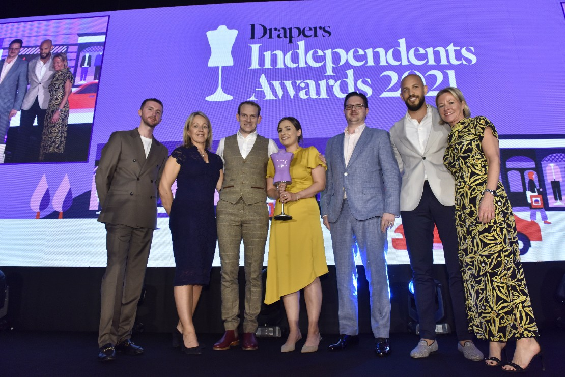 A HUme Best Multi-channel Retailer at Drapers Independent awards