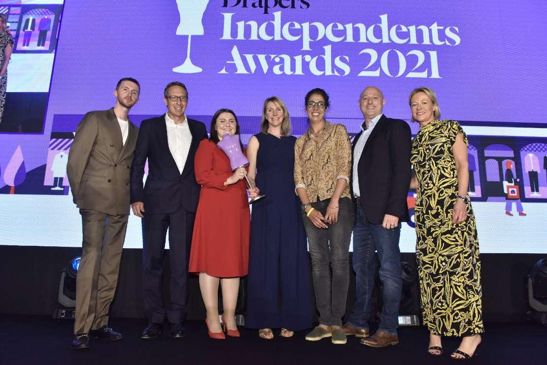 Restoration Yard team  accept Best Store Design award at Drapers Independent awards