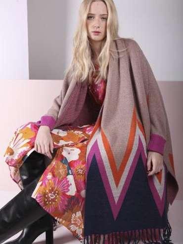 Vilagallo Poncho Autumn 21 womenswear