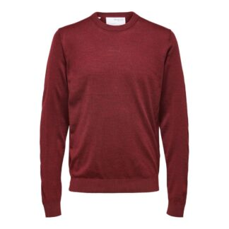 Selected Homme Merino Coolmax Sweater Rhubarb