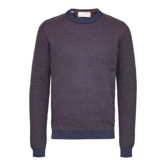 Selected Homme Wes Knit Crew Neck Navy