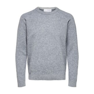 Selected Homme Lambswool Grey Knit